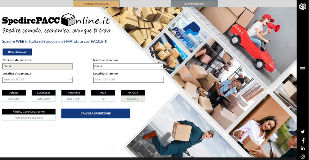 spedire comodo un pacco online