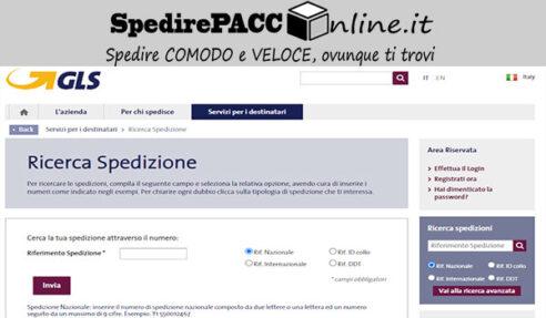 CERCA SPEDIZIONE: tracciare un pacco online con tracking GLS