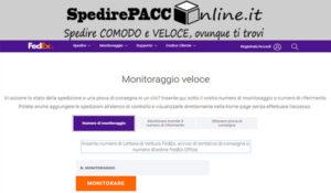 CERCA SPEDIZIONE: traccia il pacco online spedito con FEDEX ITALIA