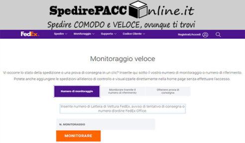 CERCA SPEDIZIONE: rintraccia il tuo pacco online spedito con FEDEX ITALIA