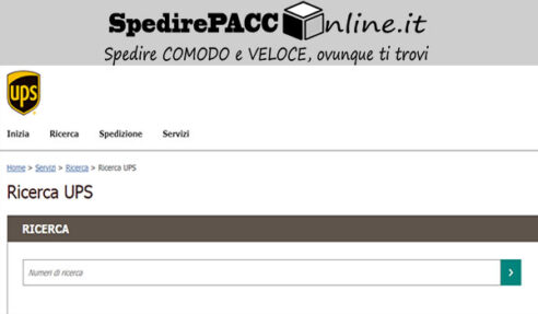 """CERCA SPEDIZIONE: utilizza questo servizio di monitotaggio """"UPS tracking"""", per essere sempre aggiornato sullo stato delle tue spedizioni pacchi con UPS ITALIA"""