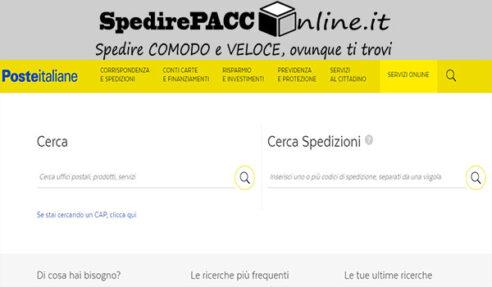 CERCA SPEDIZIONE: inserisci il tracking di Poste Italiane e traccia il tuo pacco