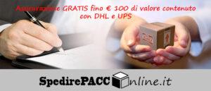 Spedizione ASSICURATA GRATIS con SpedirePaccoOnline.it