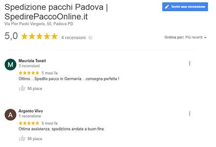 spedizione pacco online recensioni a 5 stelle