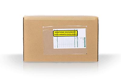 busta trasparente per documenti doganali per spedire pacco